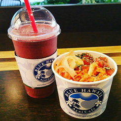 Poke Bowl Paired With a Smoothie